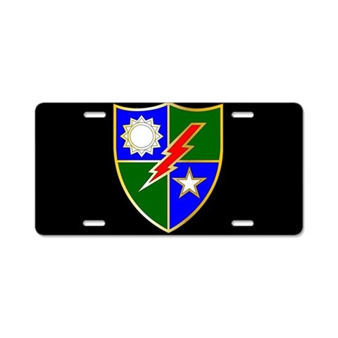 75th Ranger Regiment License Plate Military Aluminum License Plate by CafePress