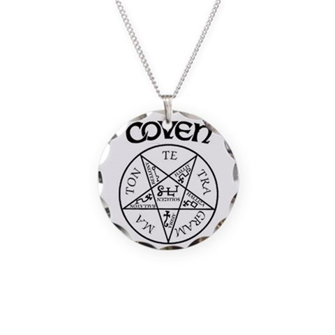 Coven Magick Circle Amulet Necklace Music Necklace Circle Charm by CafePress