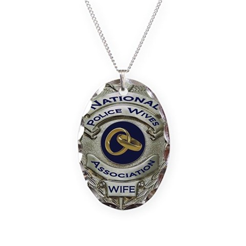 2011 NPWA Logo  Cop Necklace Oval Charm by CafePress