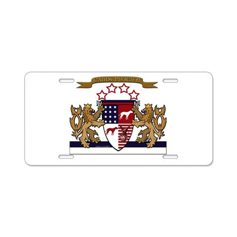 APBT coat of arms  Pets Aluminum License Plate by CafePress