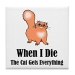 When I Die Tile Coaster
