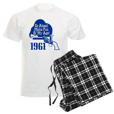 50th Birthday  Cupsthermosreviewcomplete Men's Light Pajamas by CafePress
