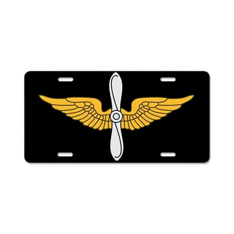 Aviation Branch License Plate Military Aluminum License Plate by CafePress