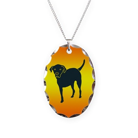 Front Leg Tripawd Lab  Pets Necklace Oval Charm by CafePress