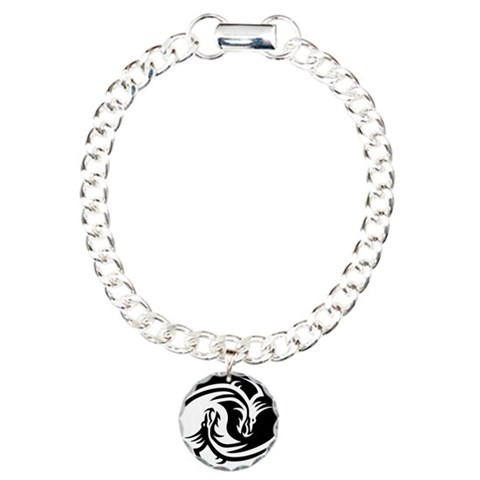 Dragon Ying Yang  Cool Charm Bracelet, One Charm by CafePress