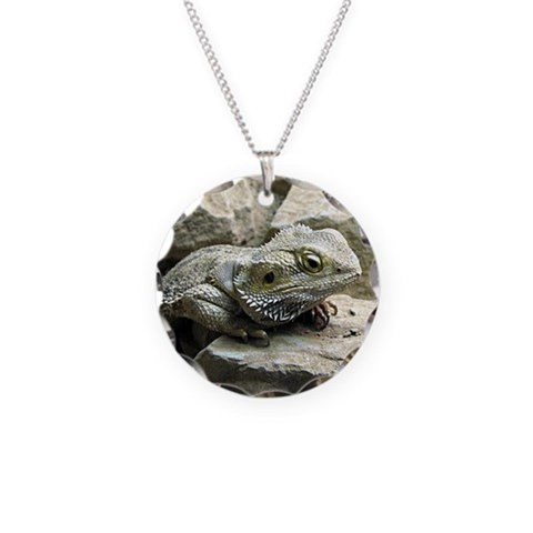 Bearded Dragon  Animal Necklace Circle Charm by CafePress