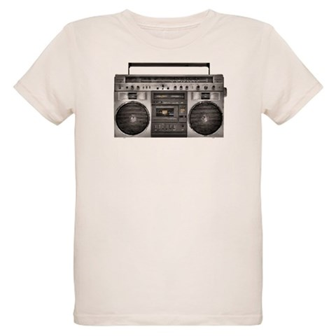 Boombox  Radio Organic Kids T-Shirt by CafePress