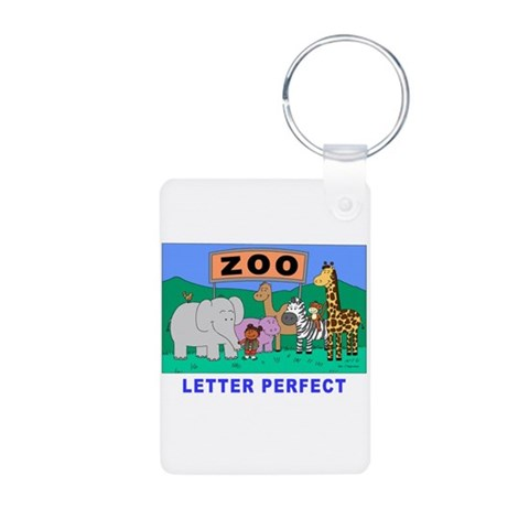 Zoo Friends  Cupsthermosreviewcomplete Aluminum Photo Keychain by CafePress