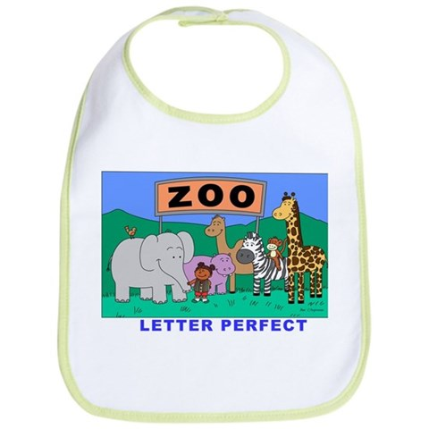 Zoo Friends  Cupsthermosreviewcomplete Bib by CafePress