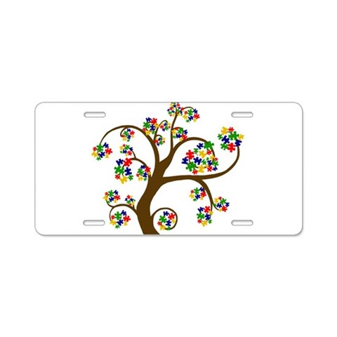 Autism Aluminum License Plate by CafePress