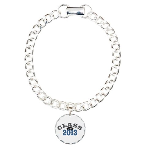 Class Of 2013 Blue  Vintage Charm Bracelet, One Charm by CafePress