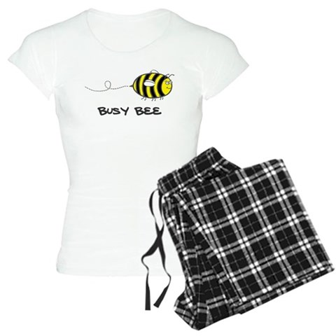 'Busy Bee'  Cute Women's Light Pajamas by CafePress