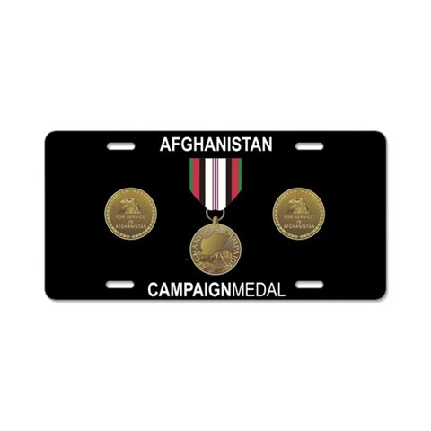 Afghanistan Campaign Medal License Plate Military Aluminum License Plate by CafePress