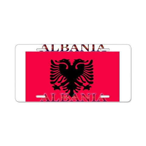 Albania Albanian Flag  Albania Aluminum License Plate by CafePress