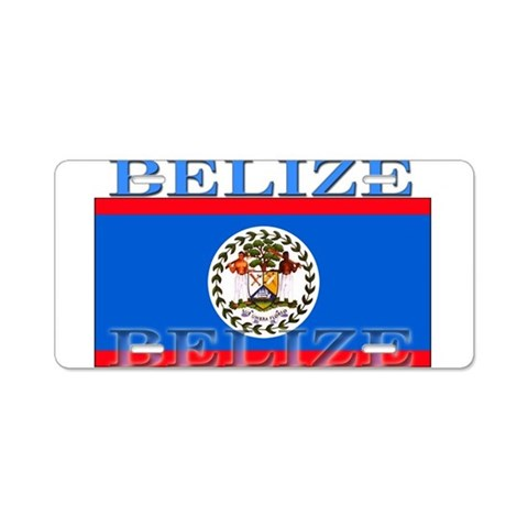 Belize Belizean Flag  Belize Aluminum License Plate by CafePress