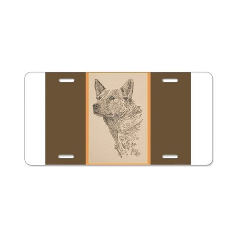 Australian Cattle Dog  Dogs Aluminum License Plate by CafePress