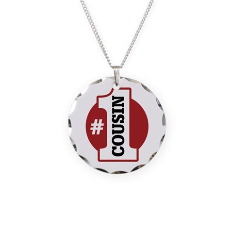 1 Cousin  Family Necklace Circle Charm by CafePress