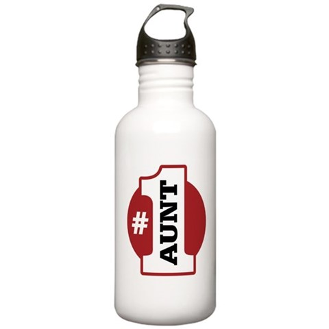 1 Aunt  Family Stainless Water Bottle 1.0L by CafePress