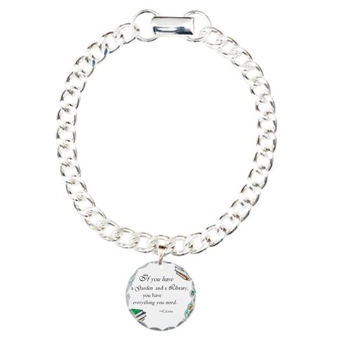 Cicero quote  Literature Charm Bracelet, One Charm by CafePress
