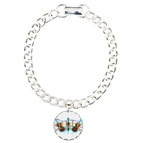 Cello  Music Charm Bracelet, One Charm by CafePress