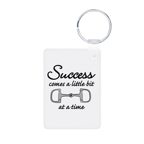 Bit of Success  Pets Aluminum Photo Keychain by CafePress