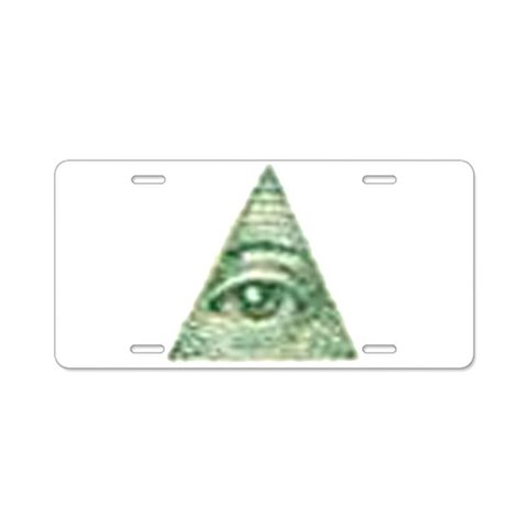 All Seeing Eye X  New york Aluminum License Plate by CafePress