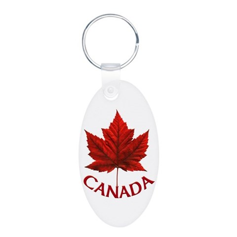Canada  Cool Aluminum Oval Keychain by CafePress