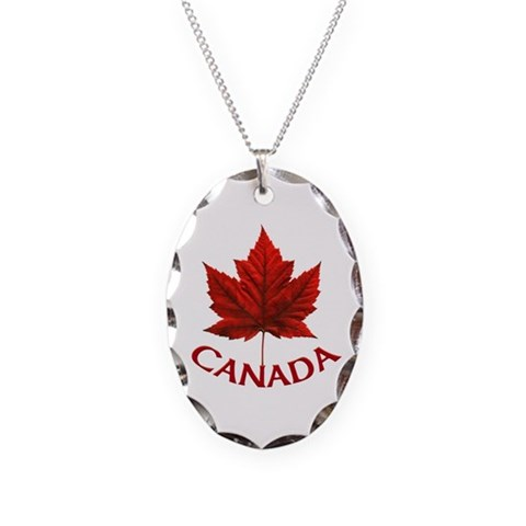 Canada  Cool Necklace Oval Charm by CafePress