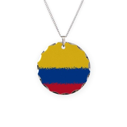 Colombian Flag  Colombia Necklace Circle Charm by CafePress