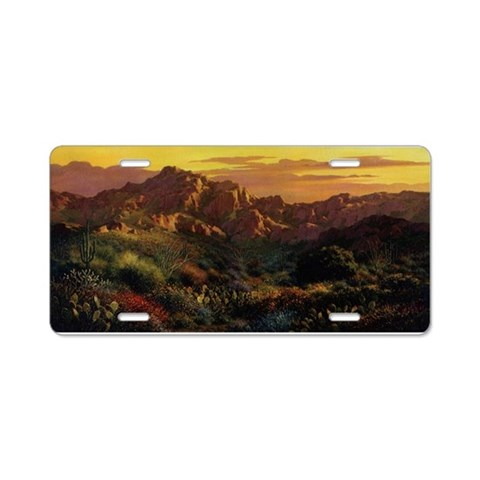 Arizona Desert  Arizona Aluminum License Plate by CafePress