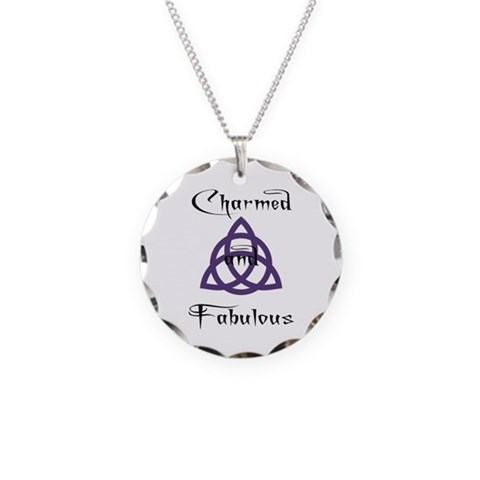 Charmed and Fabulous Triquetr Necklace Circle Char Pop culture Necklace Circle Charm by CafePress