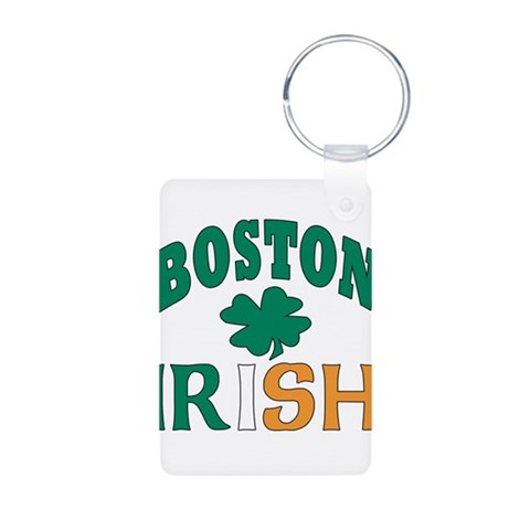 Boston irish  Irish Aluminum Photo Keychain by CafePress