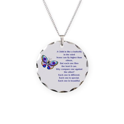Autism Necklace Circle Charm by CafePress