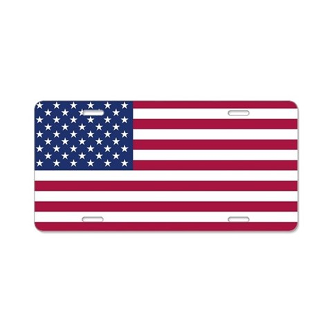 American Flag  Flag Aluminum License Plate by CafePress