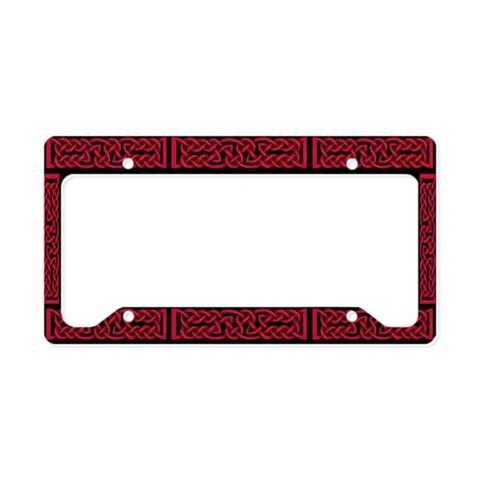 Celtic Knot Red  Irish License Plate Holder by CafePress