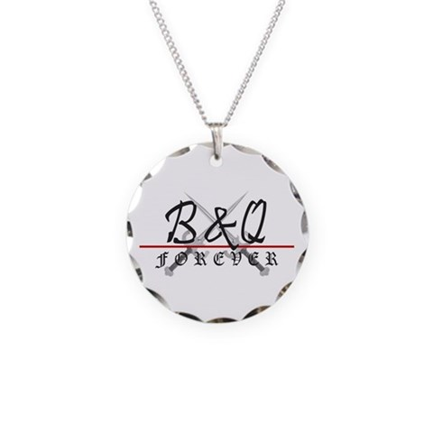 Bamp;Q Forever Circle Charm Necklace Black Necklace Circle Charm by CafePress