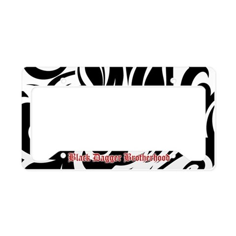 BDB Black and White  Fantasy License Plate Holder by CafePress