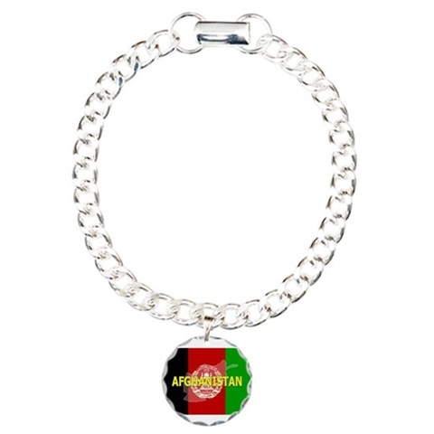 Afghanistan Flag Extra  Flag Charm Bracelet, One Charm by CafePress