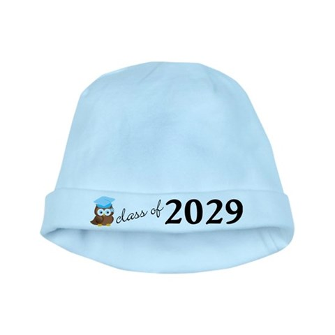 Class Of 2029 Cute Owl Graduation Baby Hat Cute baby hat by CafePress