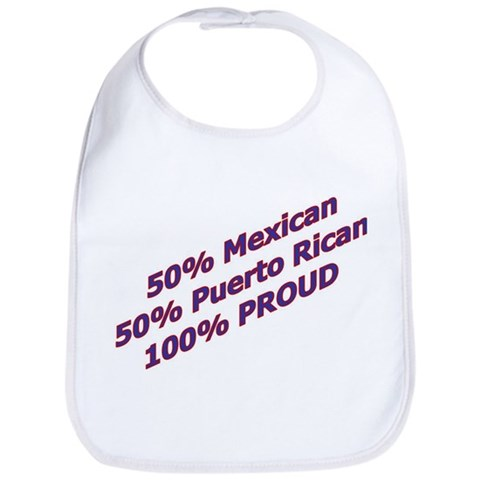 100 PROUD  Mexican Bib by CafePress