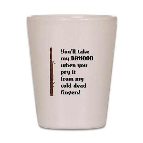 Bassoon  Music Shot Glass by CafePress