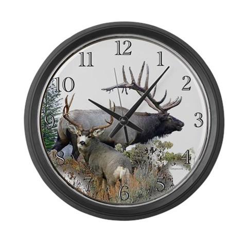Big Game  Cool Large Wall Clock by CafePress