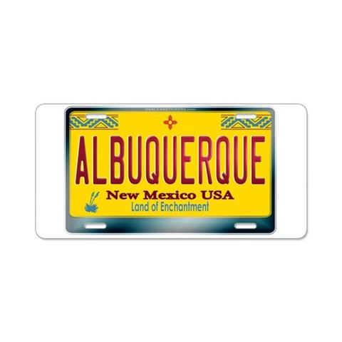 ALBUQUERQUE New Mexico License Plate Aluminum Li Mexican Aluminum License Plate by CafePress