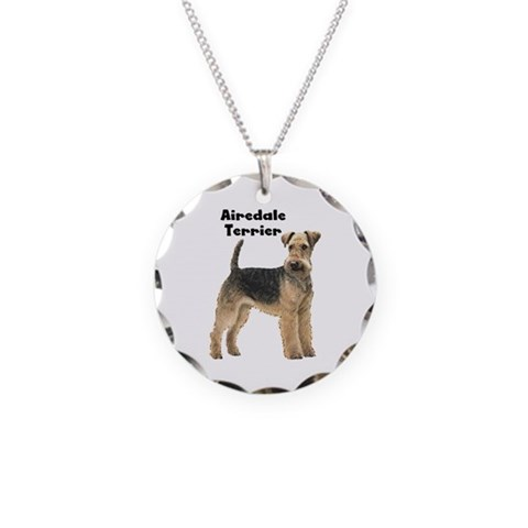 Airedale Terriers  Pets Necklace Circle Charm by CafePress