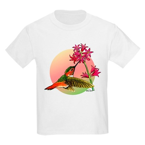 Allen's Hummingbird  Hummingbird Kids Light T-Shirt by CafePress