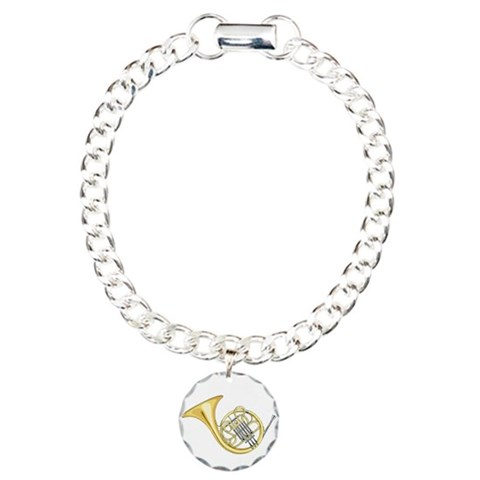 French Horn  Music Charm Bracelet, One Charm by CafePress