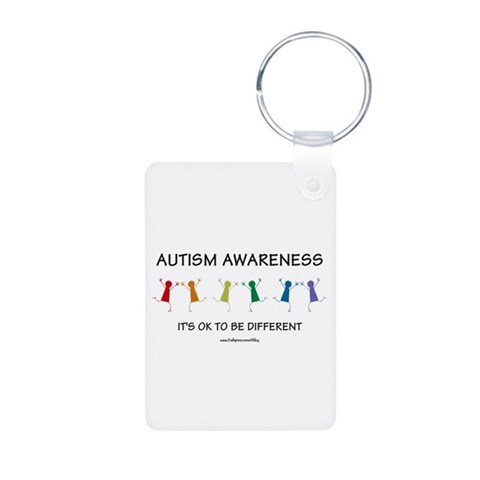 Autism Difference  Autism Aluminum Photo Keychain by CafePress