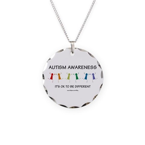 Autism Difference  Autism Necklace Circle Charm by CafePress