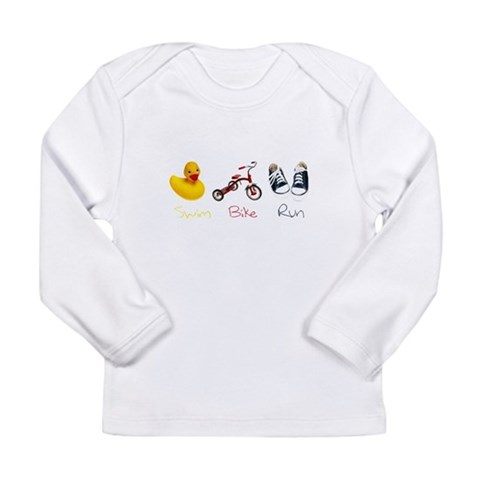 Baby Tri  Sports Long Sleeve Infant T-Shirt by CafePress