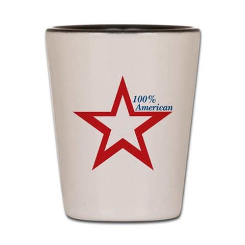 100 American Star  Political Shot Glass by CafePress